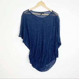 Elizabeth and James Blue Wool Blend Top Size Small